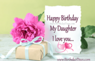 Happy birthday my daughter, from mom.