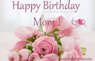 Happy birthday mom !