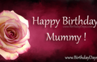 Happy birthday mummy touching text