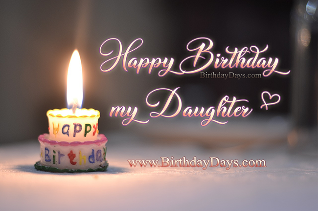 Happy birthday, my dear daughter.